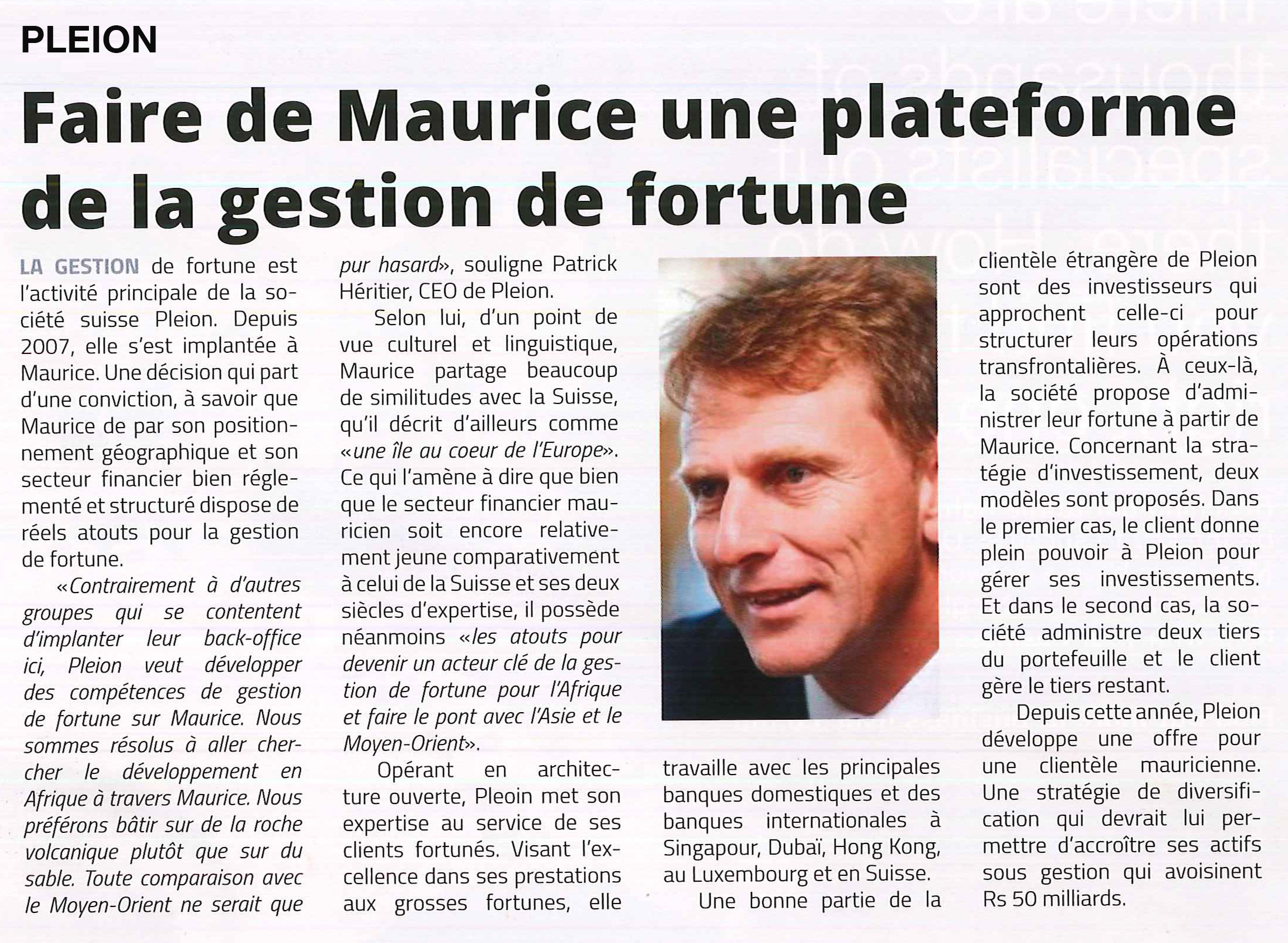 Patrick Héritier - Business Mag